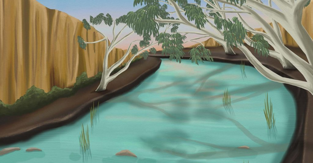 Australian River - River Illustration - ANiMOZ BiOME Art