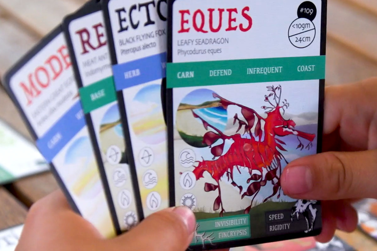 ANiMOZ - Fight for Survival - Holding Cards - EQUES - Australian Animals - Christmas 2019