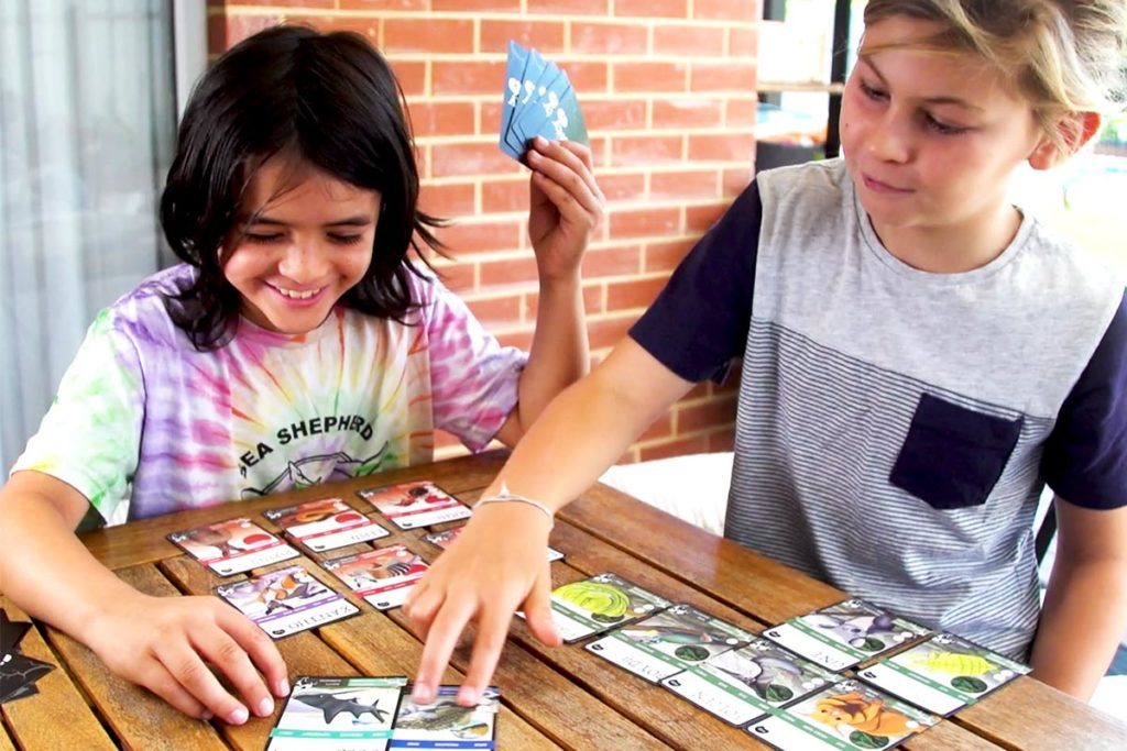 ANiMOZ - Fight for Survival - Kids playing with cards - Australian Animals - Christmas 2019