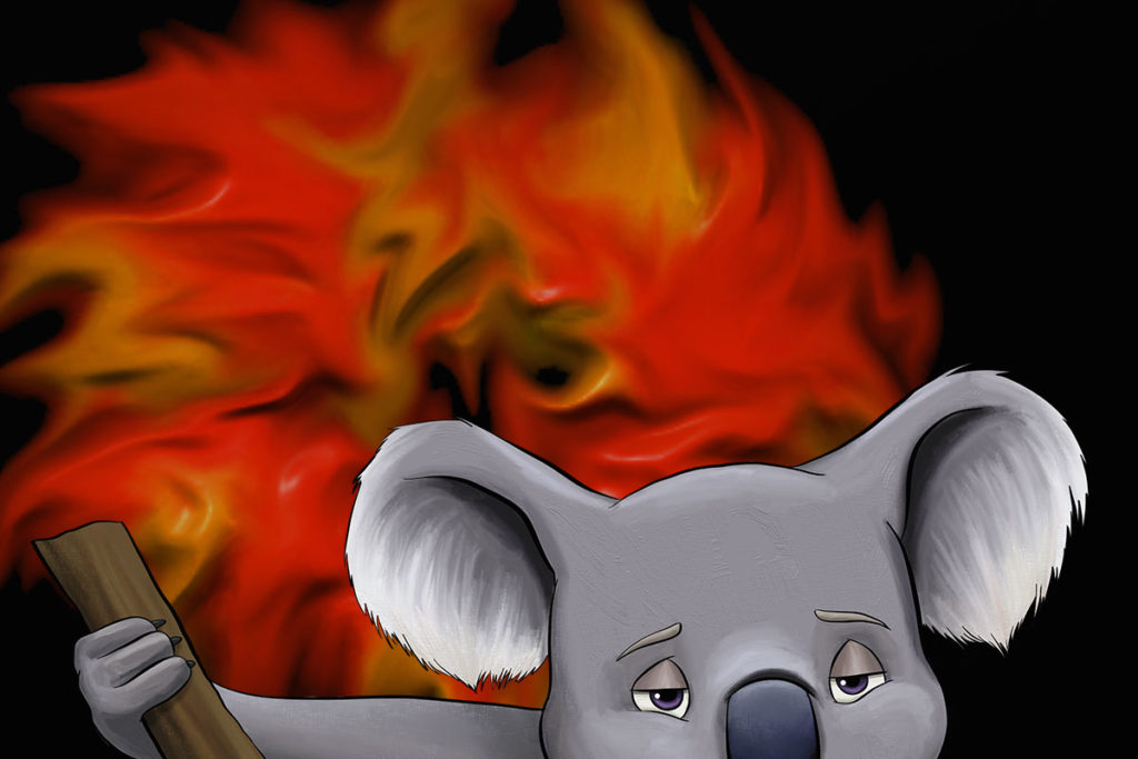 Australian bushfires - CiNE - Koala - Koalas Under Threat - ANiMOZ - Fight for Survival