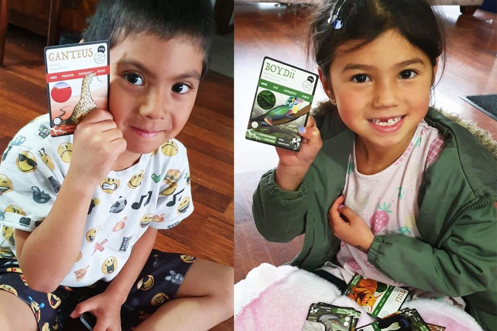 Ranger Community Series - ANiMOZ - Fight for Survival - The game changing conservation - Collectible Card Game - Australian Animals - Junior Rangers Chara and Trae