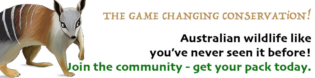 SCiATU - The game changing conservation - ANiMOZ - Fight for Survival - Numbat - Australian wildlife - card game - education