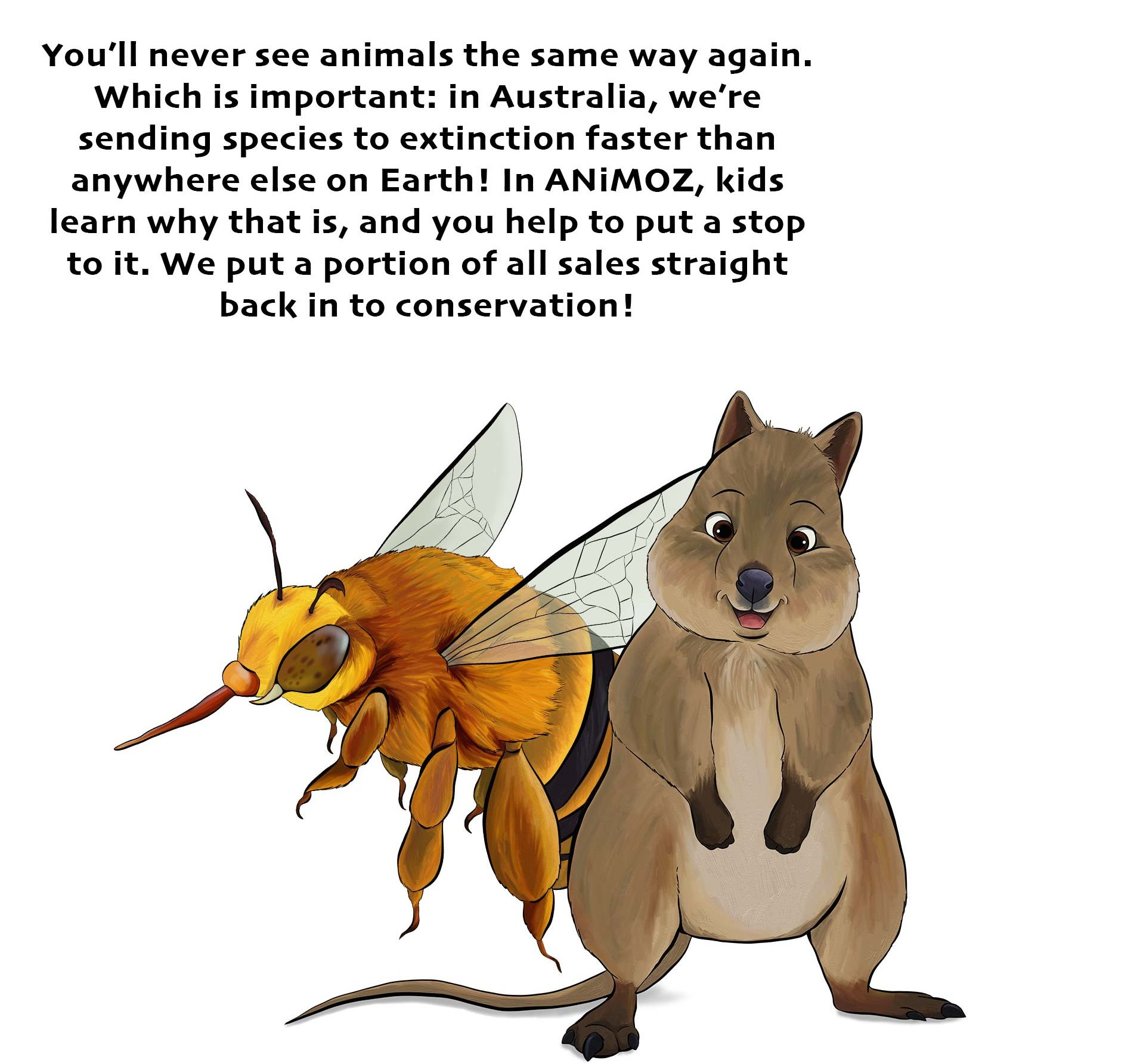 ANiMOZ - Fight for Survival ABOUT page - About ANiMOZ - collectible card game of Australian animals - What is ANiMOZ card game - Banner image