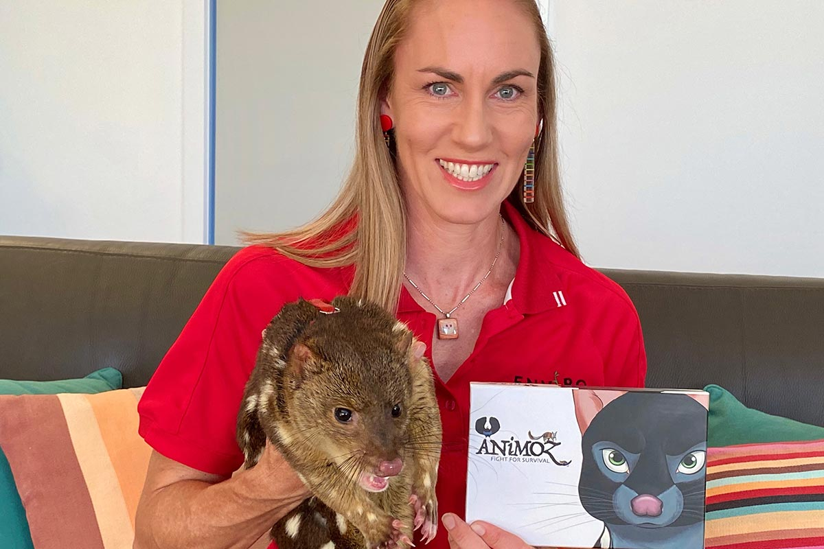 ANiMOZ - Fight for Survival - the game changing conservation - trading card game of Australian Animals - toys for kids - EnviroEdu - Spotted-tail Quoll