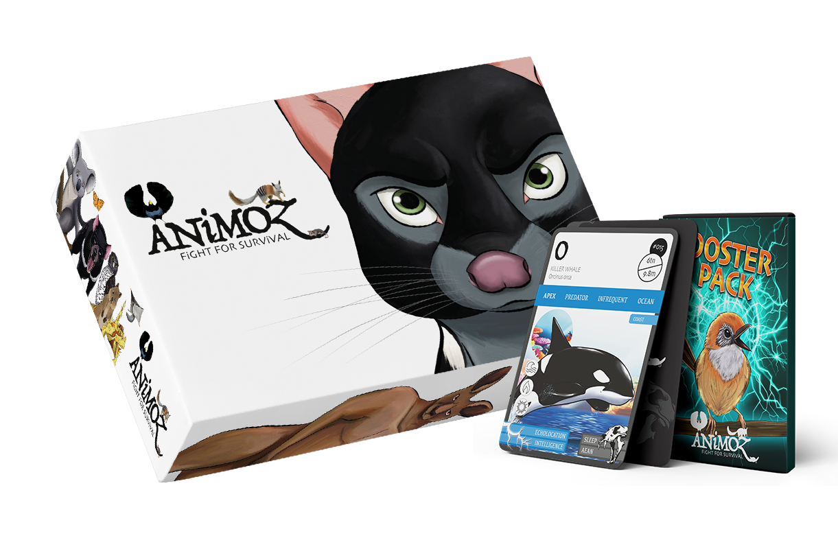 ANiMOZ - Fight for Survival - Starter Pack - Australian animals - Collectible Card game - Conservation Australian wildlife - education - STEM learning - Trading card game - Booster Packs